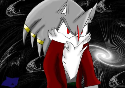 Wolf Demon with a Red Coat by BlueHedgedarkAttack
