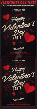 Valentines Day Flyer by Hotpindesigns