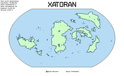 Map of Xatoran by TerranTechnocrat