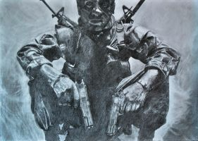 Call of Duty Black Ops Drawing by Swaal