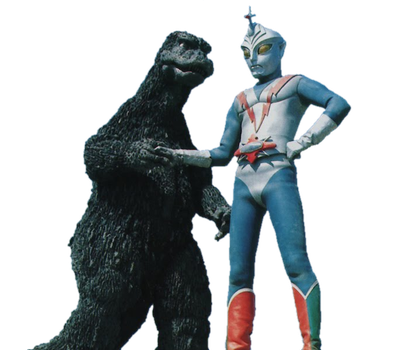 Godzilla and Zone Fighter render by chrisufray