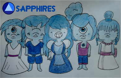 Sapphire and the Sapphires - Steven Universe by Woouu