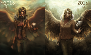 Before and After (Angel of Revival) by merkerinn
