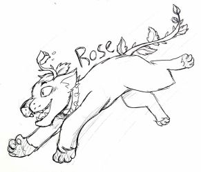Rose the Plant Cat by PrimalGreen