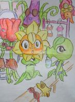 Girls are dressing for beach party (PvZ Heroes) by Ethansun8818