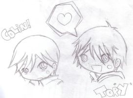 Colin and TorY - Old Doodle by Chibi-Manga-Stalker