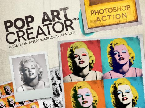 POP ART Creator PRO - Photoshop Action, PSD Plugin by RussianPunx