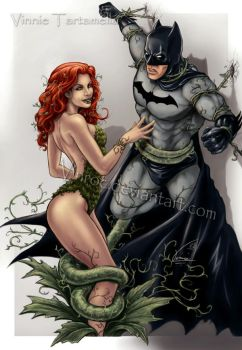 Ivy has the Dark knight by VinRoc