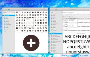 elementary OS Fonts and Icons mockup, version 2 by 13iangel