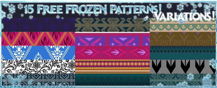Disney Frozen Patterns by Sakuyamon
