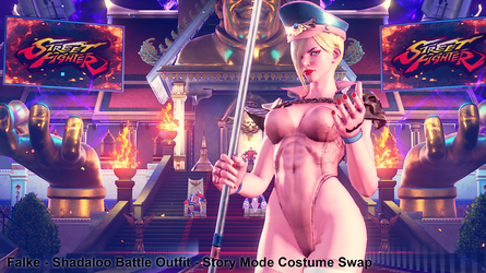 Falke - Shadaloo Battle Outfit - C2 Slot Swap by addysun