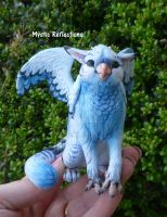 Gryphon Sculpture by MysticReflections