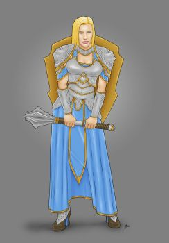 Lady Macey Escott, Cleric of Sune by Karbacca