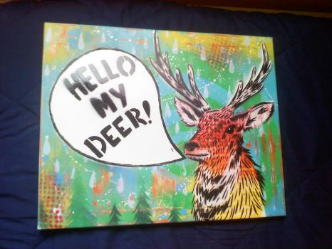 Hello My Deer by SimplySaraArt