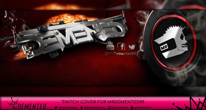 Twitch Cover for MrDemented85 by MzDemented