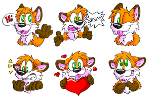 Huk Telegram stickers by Hukley