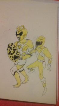 Yellow Rangers (1969 and Unofficial) by AvengerOfIron3401