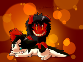 Chibi Smile Dogs by Klaracrystalpaws