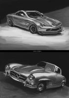 speed painting mercedes-benzes by niafrancois