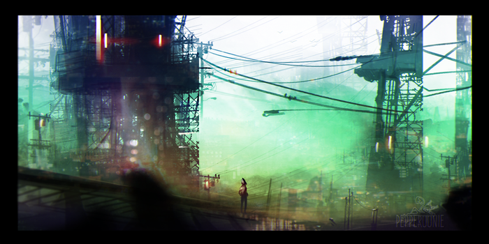 Concrete Jungle by Pepperoonie