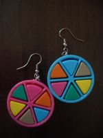 Trivial Pursuit earrings by estranged-illusions