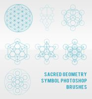 Sacred Geometry Symbol Photoshop Brushes by sdwhaven