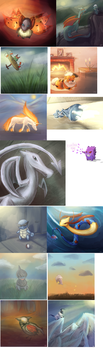 Pokemon Sketch Dump 2 by ToadsDontExist