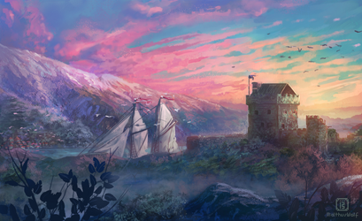 Secluded harbor by MalthusWolf