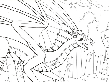 Fury of the Storm (Lineart) by Vincent-Wullf