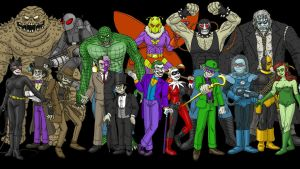 Batman villains by DoctorChevlong