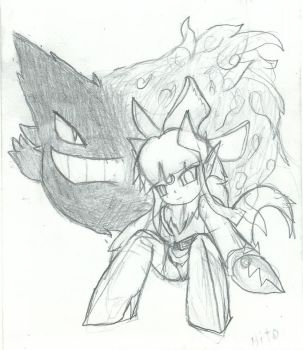Mimi and Gengar Doodle by HitorazeKaiju