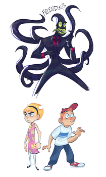 BILLY N MANDY and nergal by smokeplanet