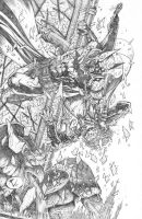 Batman vs Joker Final Pencils by RudyVasquez