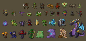 pixel monsters by Sylvant