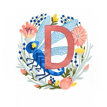 D is for Dragonfly by TLCook