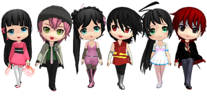 [MMD-Collab]Chibi VY1 + VY2 + appends .:Download:. by KawaiiNeko28