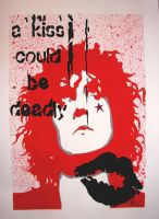 a kiss could be deadly . Marc Bolan by Evlisking