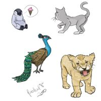 Animal Sketches 01 by RubixChick