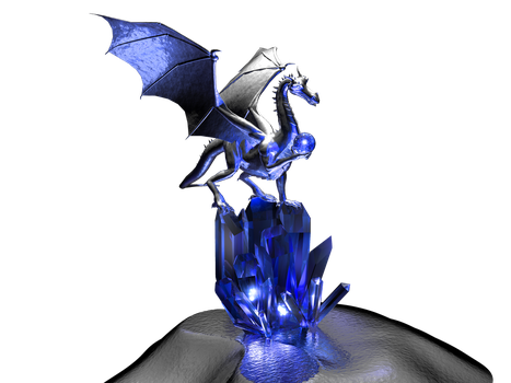 Saphire Dragon Crystal Stock by Moonchilde-Stock