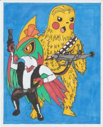 Hawsolo and Pikachubacca by conradknightsocks