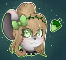 Mouse head by Wikatoriaacx