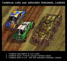 Tambrian cars and APC by wingsofwrath