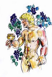 YOUNG BACCHUS INVENTS WINE by Mikedga