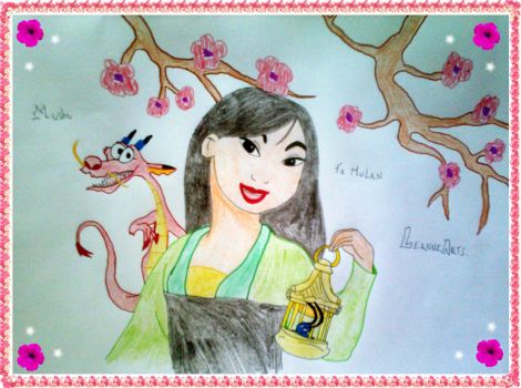 Fa Mulan and Mushu ~ Leanne by LeanneArts