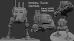 Imperial Guard Sentinel 3d model by KidneyShake