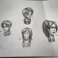 Attack On Titan Portraits SKETCH by Marcarus