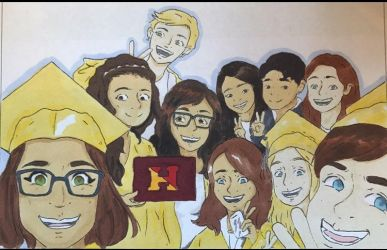 Graduation Photo Drawing by Sky1216