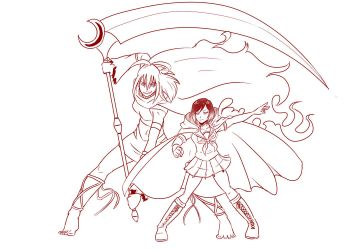 5 Ruby and her stand OC Kimi by mattwilson83