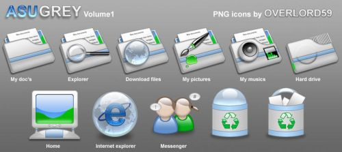 Azugrey png icons vol.1 by overlord59