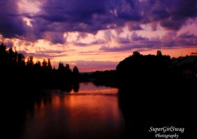 Sunrise above the river by SuperGirlSwag